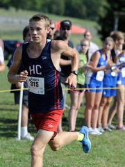 Henry County junior Javan Winders wins the boys gold division race at the Junior Ward Tennessee Classic on Saturday at the Steeplechase course.
