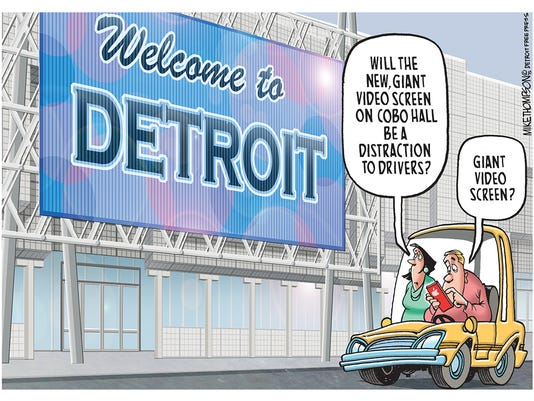 Another distraction for distracted Detroit drivers!