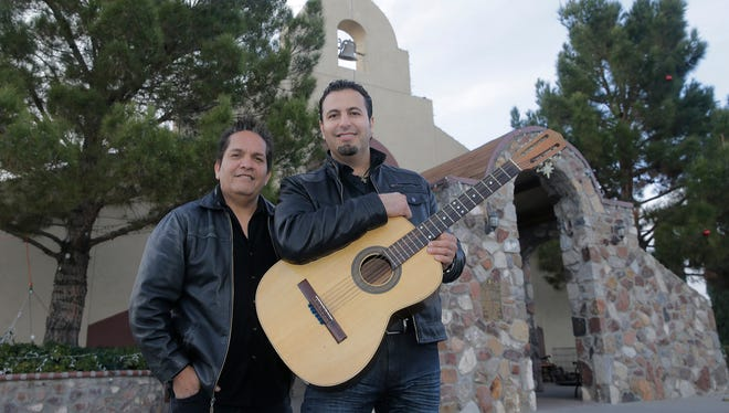"Sergio Carmona, left, and Jorge Alvidrez co-wrote the song and lyrics for their song, ""Francisco Es,"" which will be the official song for Pope Francis' trip to Mexico."