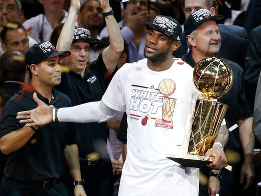 93e8b9d89b7 Will LeBron James and the Heat win a third consecutive NBA championship   USA TODAY Sports