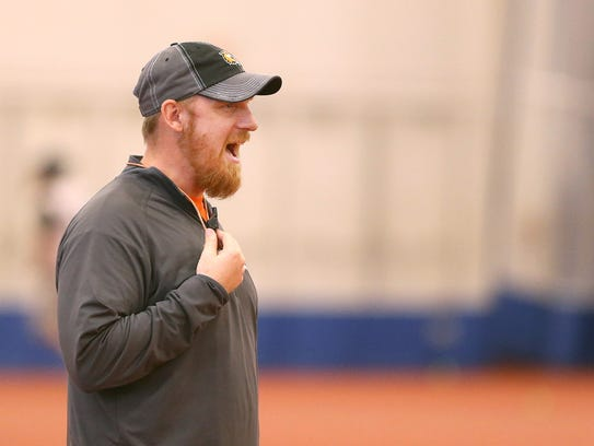 RIT men's lacrosse coach Jake Coon.