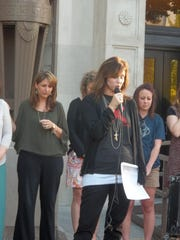 A prayer gathering was held Tuesday evening at the Madison County Courthouse.