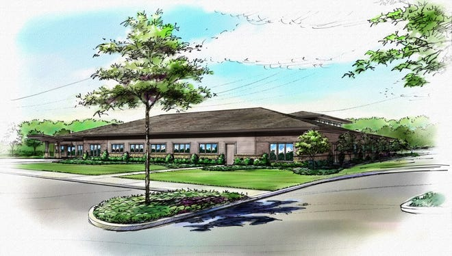 A rendering of the proposed Alive Hospice that will be built in Murfreesboro