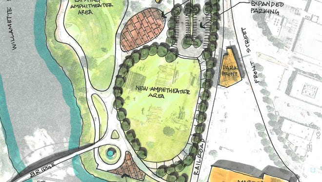 The proposed amphitheater for Salem's Riverfront Park is moving to a new location on the southeast side of the park.