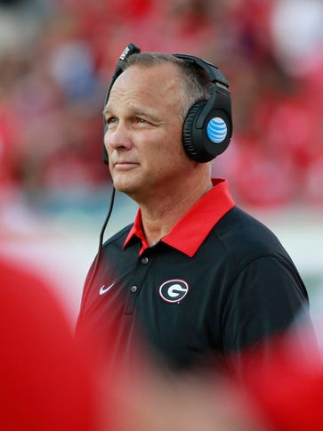Georgia Bulldogs head coach Mark Richt stepped down