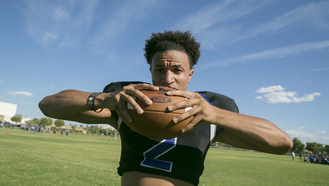 Chandler's Chase Lucas poses for portraits at Chandler High School in Chandler, AZ on July 27, 2015.