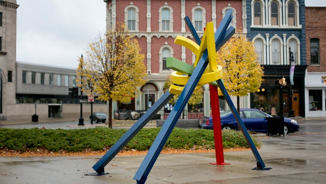 Passage by Ray Katz is displayed at Military and Water Streets in Port Huron.