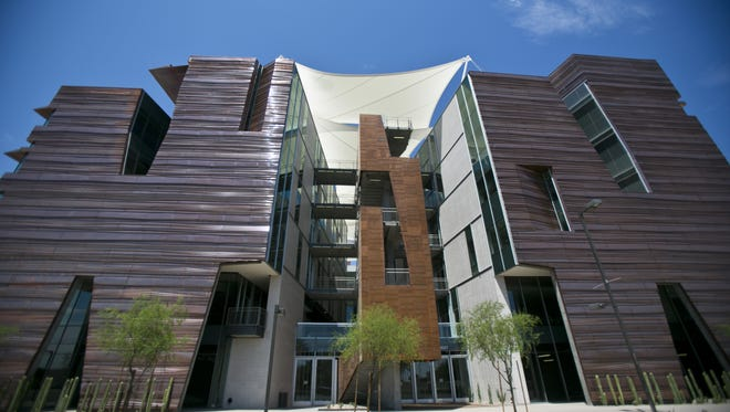 Students at the University of Arizona College of Medicine-Phoenix attend class in the Health Sciences Education Building.