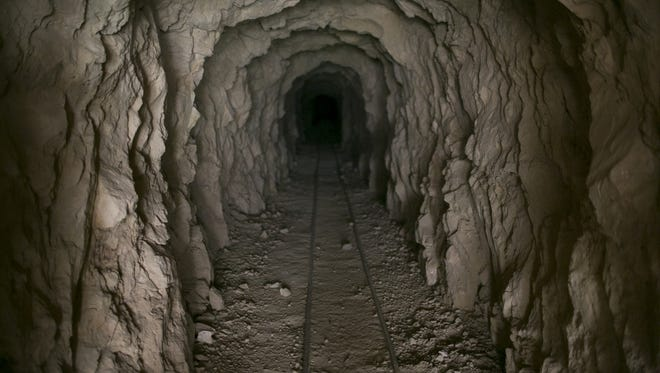The entrance to the main shaft at the Copper Mountain Mine site sits hollow and silent near the Parashant National Monument not far from the Grand Canyon.