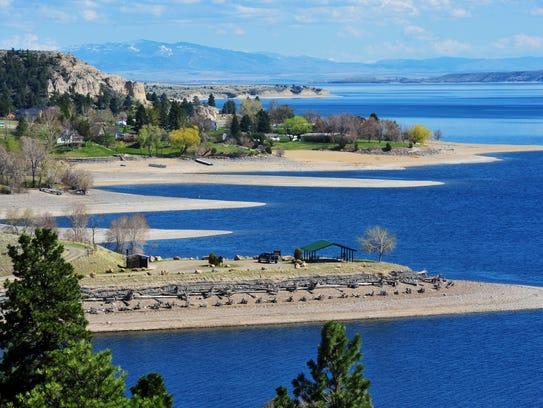 Canyon Ferry Lake's capacity is 1.9-million acre-feet.