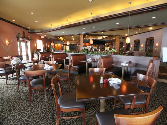 The main dining room at the new Mina Tapas Lounge located