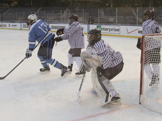 In this Jan. 31, 2014 file photo, Don Bosco goaltender