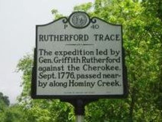 This state historic marker sits beside U.S. 19-23 east