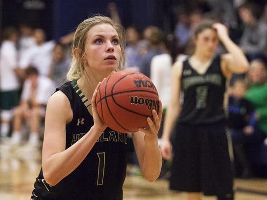 Highland's Maison Tolle is one of 12 named to the Coloradoan's All-Area girls basketball team.