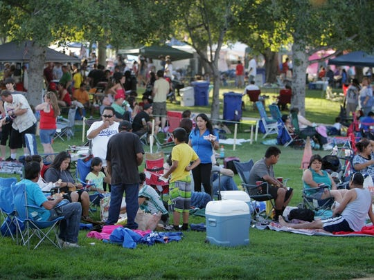Thousands gather at Rancho Santa Susana Community Park for the 2014 Fourth of July Fireworks Extravaganza sponsored by the Rotary Club of Simi Valley.