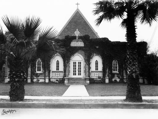 Church of the Good Shepherd on the bluff, 1936