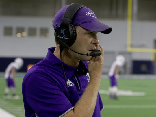 Jacksboro's Brannon Rodgers was named Red River 22 Small School Coach of the Year after leading the Tigers to an 11-2 record in his first year at the helm.