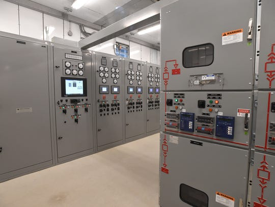 A switchgear room at Apple's Reno data center.