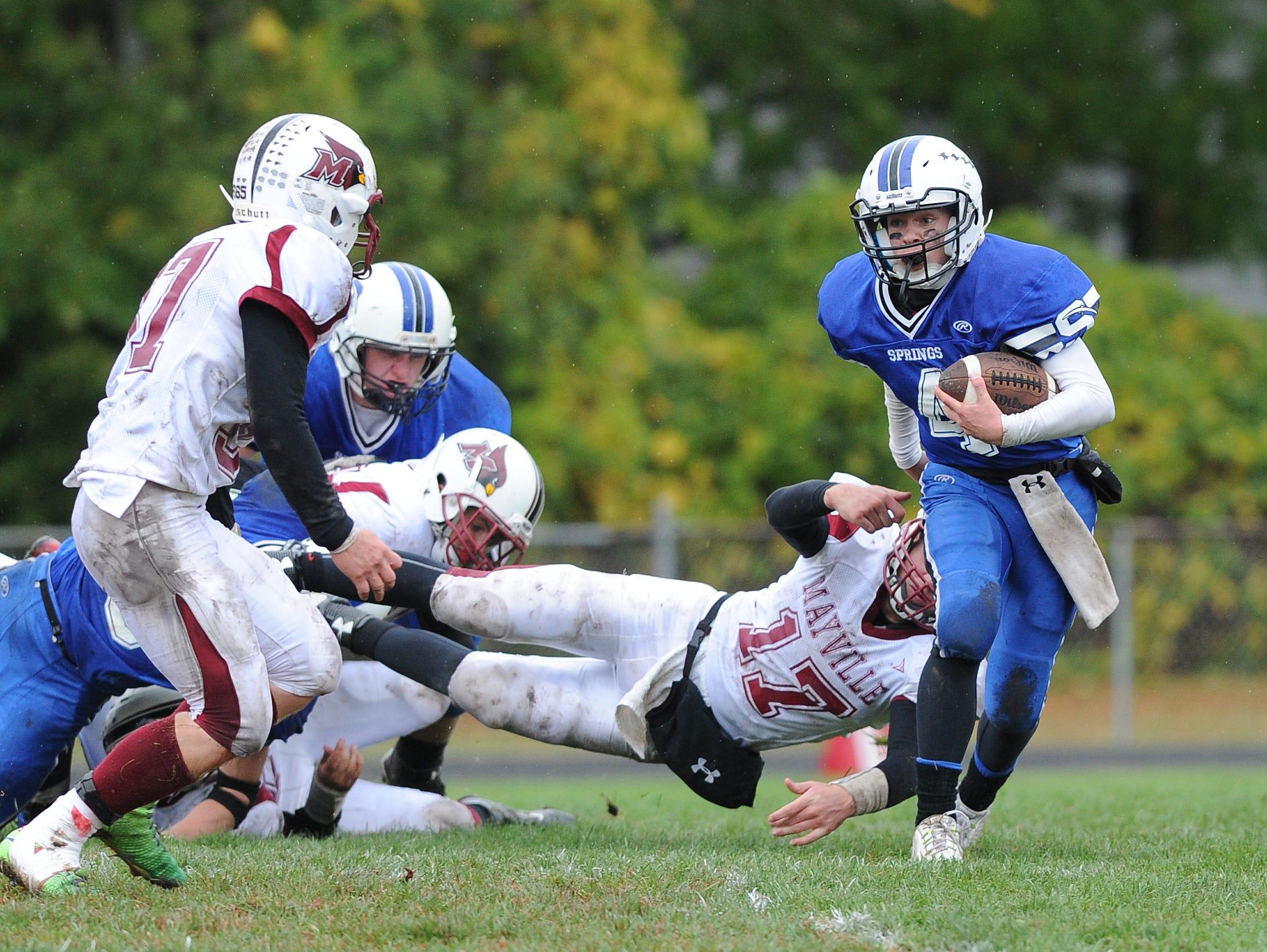 Springs vs. Mayville football.