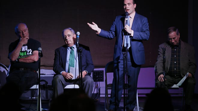 Mayor John Cranley speaks in support of the parks levy, Issue 22, during an Oct. 29 debate. Voters defeated the measure on Nov. 3, but not because they were opposed to improving their neighborhoods or were anti-tax, Gavin DeVore Leonard writes.