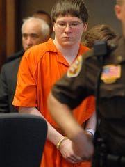 Brendan Dassey is escorted into court for his sentencing in Manitowoc, Wis. in 2007.