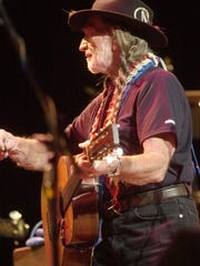Willie Nelson performing at the Peace Center in Greenville
