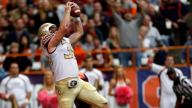 Florida State tight end Nick O'Leary said he didn't pay much attention to the college football playoff rankings. He said his mother informed him of where the team ended up.