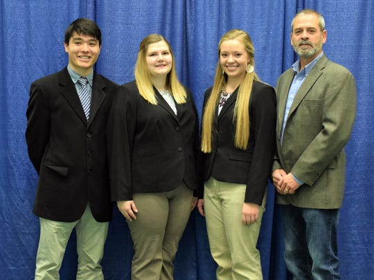Manitowoc County 4-H Livestock Judging Team (from left)