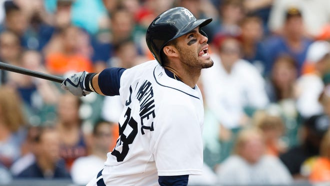 J.D. Martinez has nine homers and 31 RBI in 122 at-bats with the Tigers.