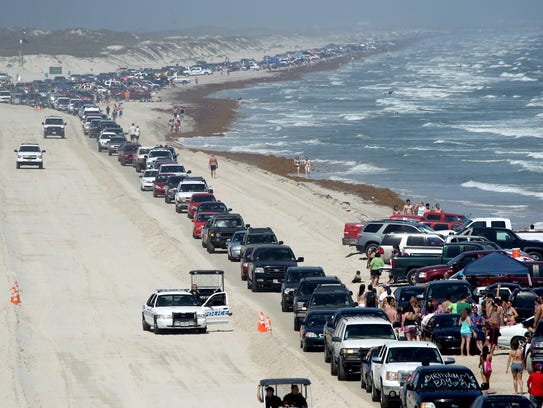 Mustang Island's North Packery Beach attracts visitors