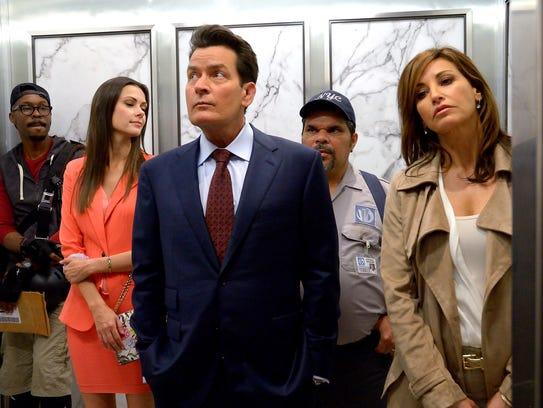 """Charlie Sheen (center) stars in """"9/11,"""" the new film"""