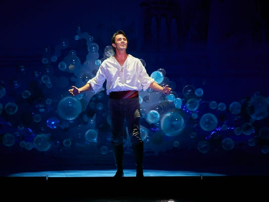 "Eric Kunze in Disney's ""The Little Mermaid."" Showtimes are from Oct. 24-29 at the Auditorium Theatre."