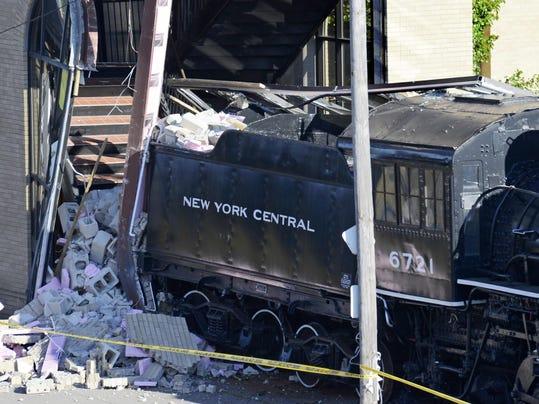 Rail Car Crash In Utica Station