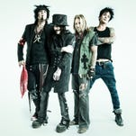 Members of Motley Crue: Nikki Sixx, left, Mick Mars, Vince Neil and Tommy Lee.