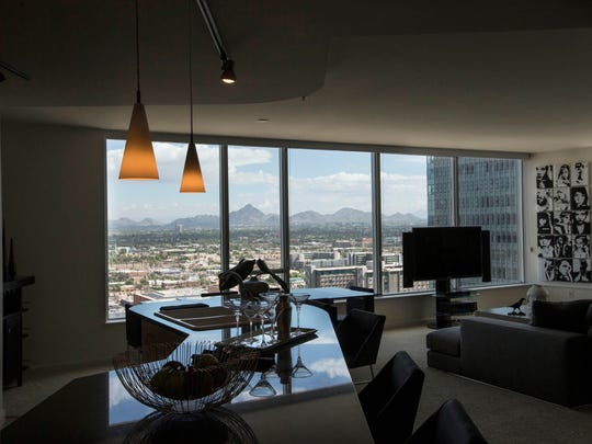 The luxury 44 Monroe, in downtown Phoenix, has had an actor and athletes, as well as business owners and other executives, as tenants of its penthouses. It's one of a number of luxury-housing properties in the city.