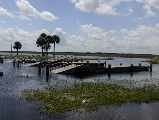 Water levels are way up in the St. Johns River near