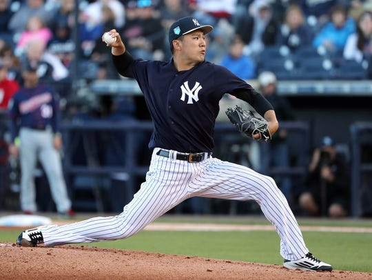 The Yankees' Masahiro Tanaka ranks 27th among starting pitchers and 99th overall.