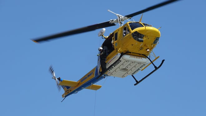 STAR FILE PHOTO A Ventura County helicopter crew performs a hoist rescue.