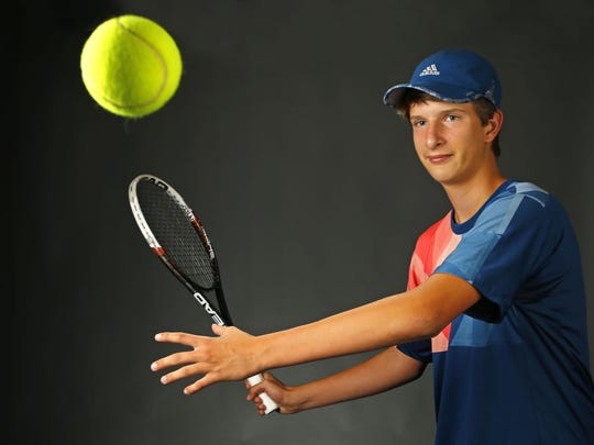 Colin McConnon, freshman tennis player from Cave Creek