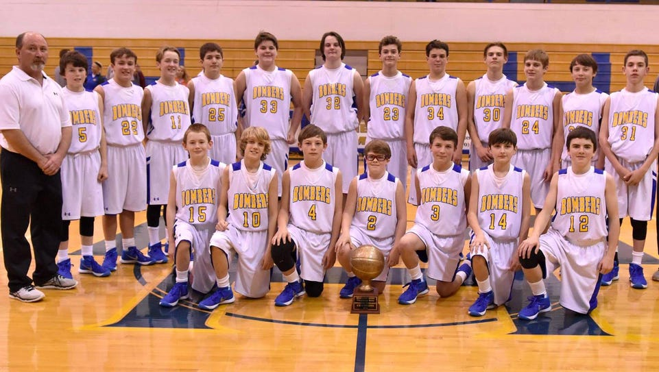 The Mountain Home Seventh Grade Bombers, coached by