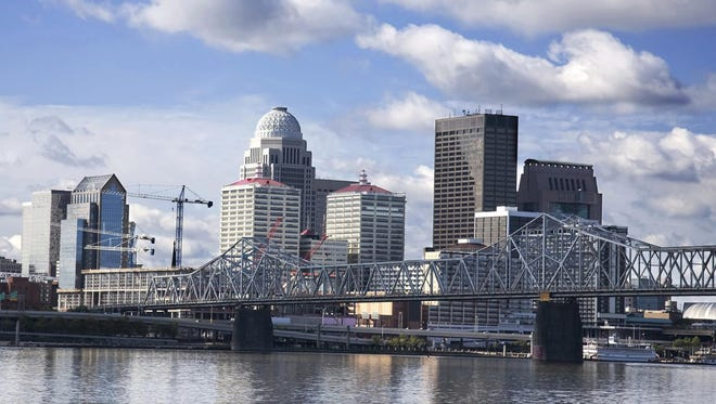 Undated file photo of Louisville's skyline.