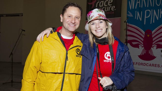 Longtime WPTV NewsChannel 5 meteorologist Glenn Glazer (left), with colleague Kristen Wolfe, will serve as grand marshal for the South Florida Race for the Cure's 5K race. The 29th annual event will be held Saturday in West Palm Beach.