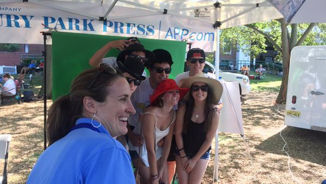 Check out the Asbury Park Press booth to the left of