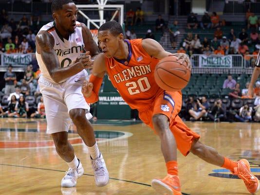 NCAA Basketball: Clemson at Miami