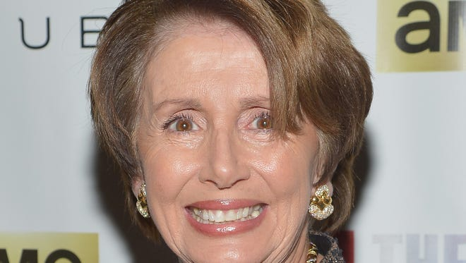 "Minority Leader of the United States House of Representatives Nancy Pelosi attends ""All The Way"" opening night at Neil Simon Theatre on March 6, 2014. in New York City."