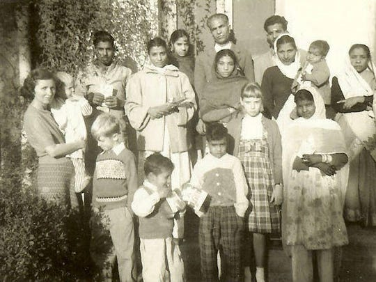 Margaret (far left) in Pakistan 1960.