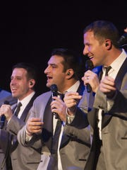 Members of the A cappella group Straight no Chaser perform one of two shows at the Murat Theater.