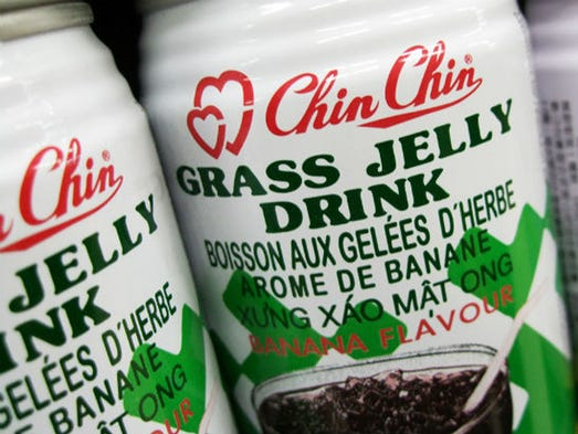 Across the world cultures have made it a habit of canning their favorite foods, sometimes in curious ways. Grass jelly, Vietnam: You can get it as canned chunks of jelly, or even as an energy drink. Grass jelly, or leaf jelly, is popular in across Asia, particularly in Vietnam, China, Indonesia and Malaysia. The pressed juice from a combination of three regional plants is apparently high in nutrients and very sweet.