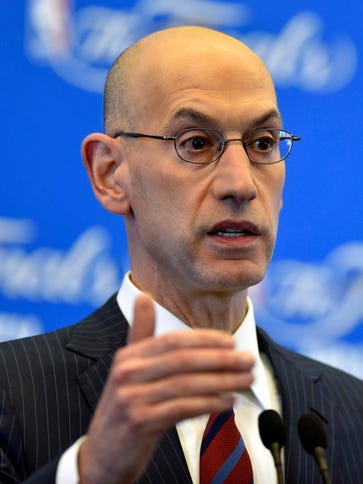 NBA commissioner Adam Silver and the Players Association