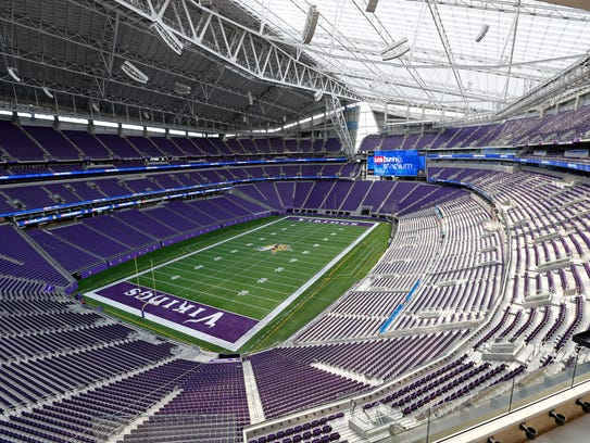 This July 19, 2016, file photo, shows US Bank stadium